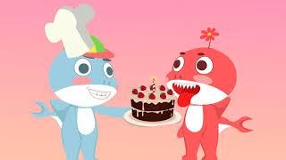 Baby Shark Cartoon #2 | Best Animation Movies Funny | scrambled birthday cake