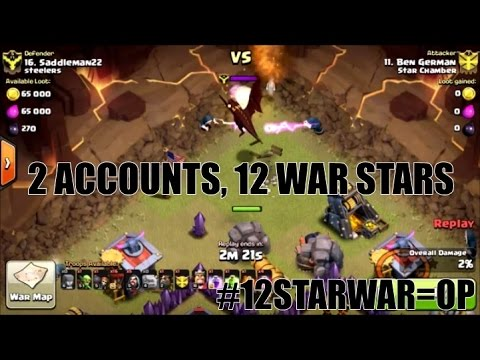 CLASH OF CLANS - 12 STAR WARS WIN WARS   GOLAVALOON 3 STAR WAR ATTACK  