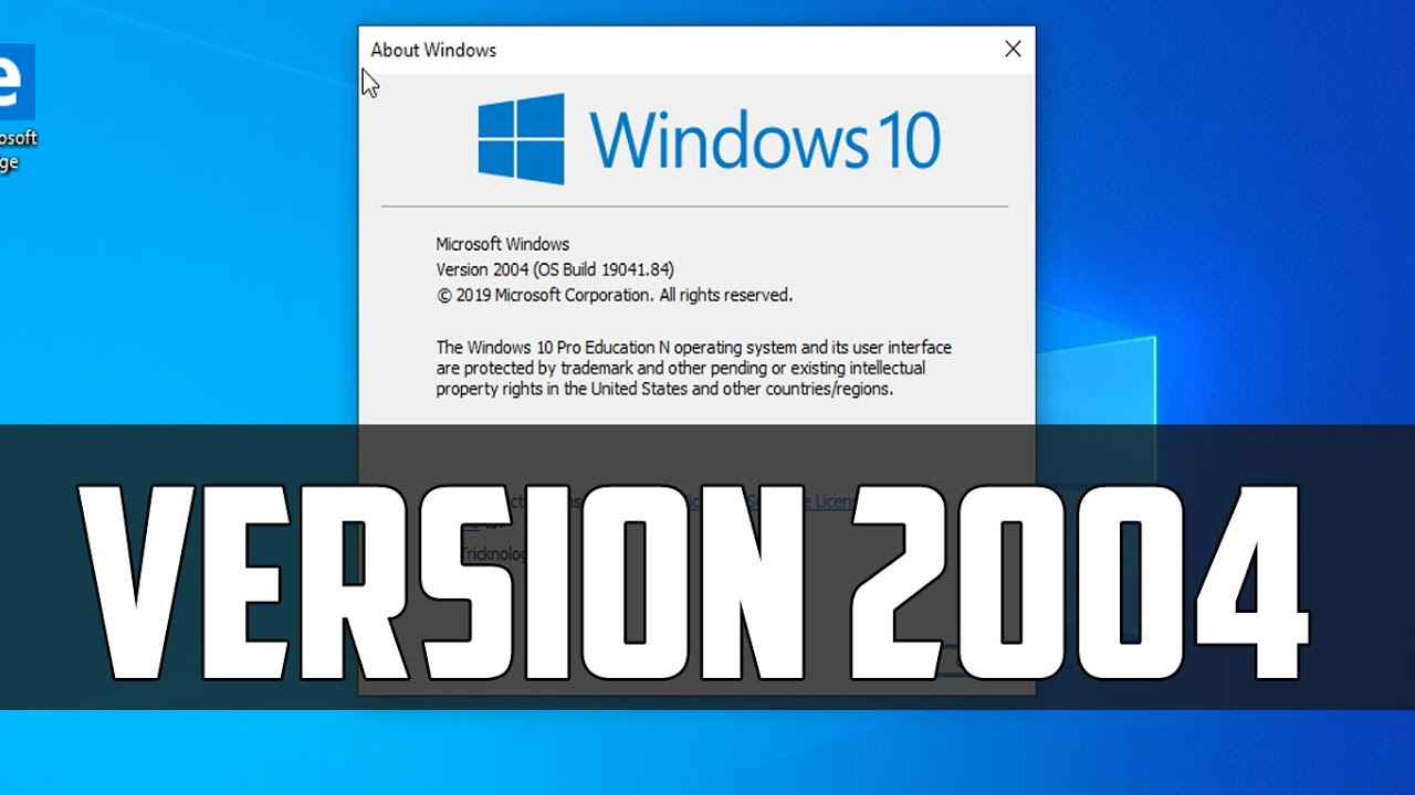 Windows 10 2004 Iso Download