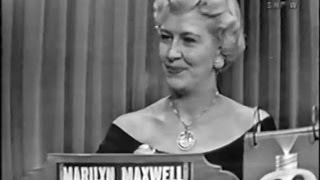 What's My Line? - Marilyn Maxwell (May 10, 1953)