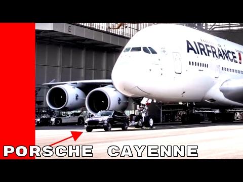 Watch A Porsche Cayenne Tow A 285 Ton Airbus A380