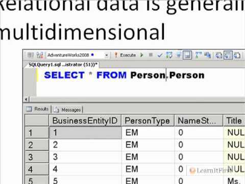 Comparing Relational Databases to Multidimensional Databases in SQL