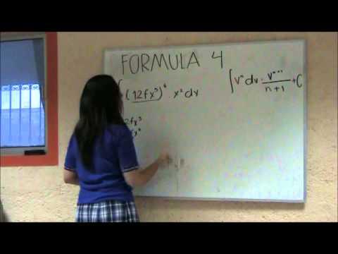 FORMULA 4 CALCULO INTEGRAL