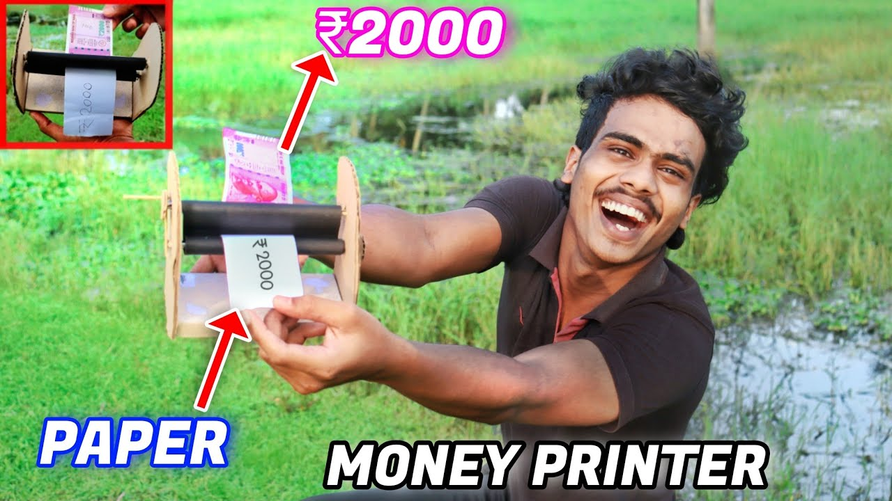 How To Make A Money Printer Machine Magic At Home🔥| Oxten Ideas |