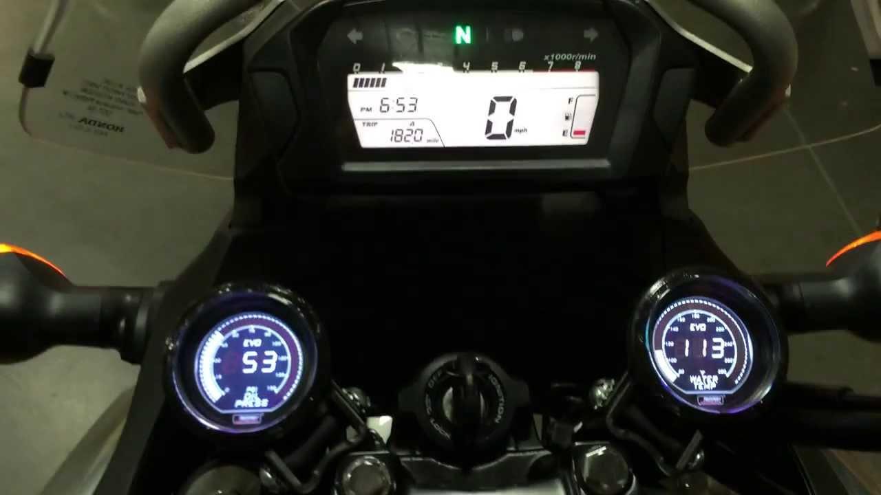 Honda NC700X Oil Pressure Gauge and Water Temperature ...