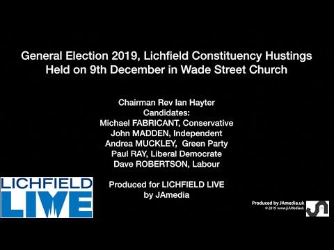 2019GE  Hustings  Lichfield