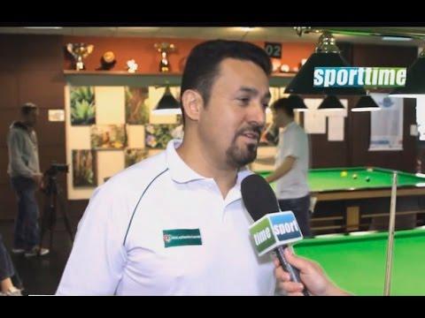 Noel Rodrigues no Sportime TV falando sobre a sinuca