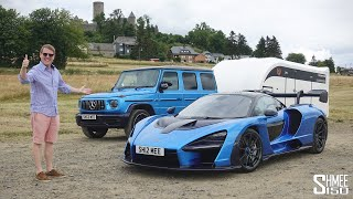 Towing My McLaren Senna with the AMG G63 to the Nurburgring!