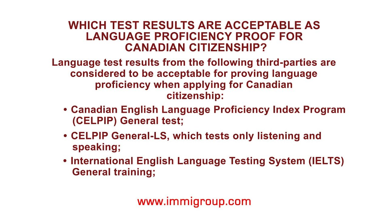 Which test results are acceptable as language proficiency proof ...