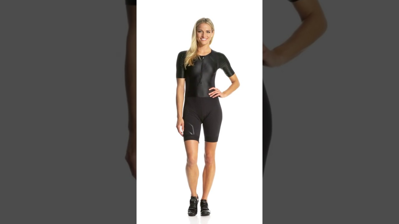 57536ee8848 2XU Women's Compression Sleeved Trisuit | SwimOutlet.com - YouTube