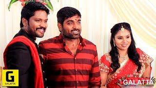 Vijay Sethupathi, Vishal, Priya Bhavani Shankar at actor Soundar marriage reception