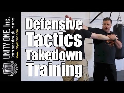 Security Guard Training – Defensive Tactics Takedown | Unity One, Inc.