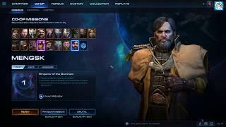 StarCraft 2 Co-op: Mengsk (Leveling 1-5)
