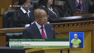 Resumption of debate on Vote 1: Presidency, 27 May 2015