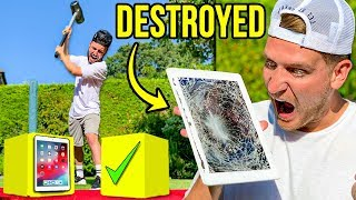 DON'T DESTROY THE WRONG MYSTERY BOX CHALLENGE!! (He lost everything)