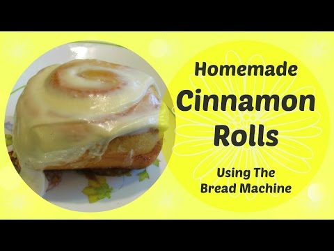 Homemade CINNAMON ROLLS Recipe/Tutorial Using the Bread Machine! #withcaptions