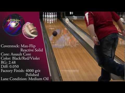 Hammer High Rev Black-Red-Violet Bowling Ball by Joe Stillman, BuddiesProShop.com