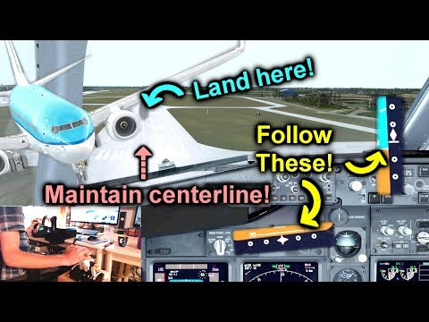 How To Manually Land an Airliner in Flight Simulator! [Prepa