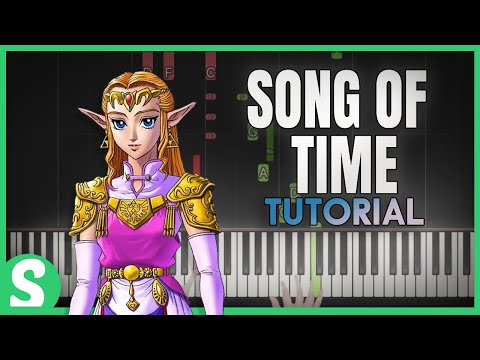 """How to play """"SONG OF TIME"""" from LOZ: Ocarina of Time (Synthesia) [Piano Video Tutorial] [HD]"""