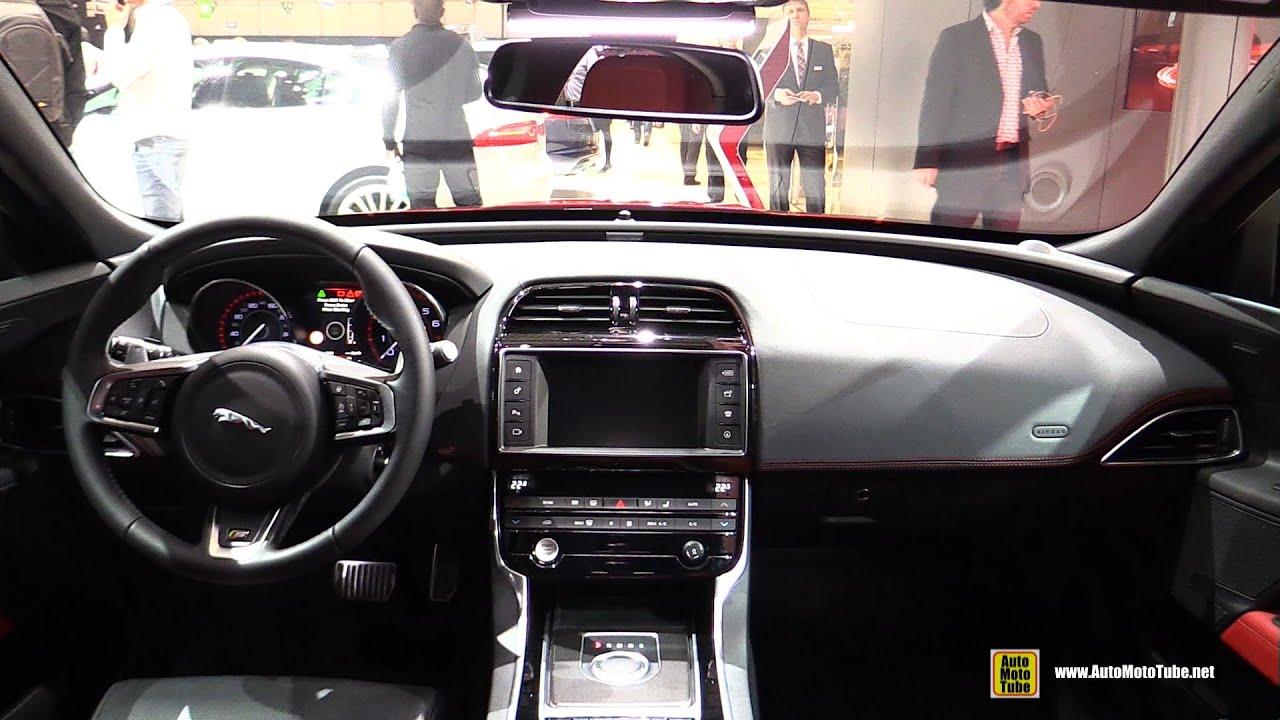 2015 Jaguar XE S Interior Walkaround   2015 Geneva Motor Show   YouTube