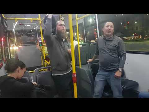 Preaching on a bus in Buenos Aires, Argentina