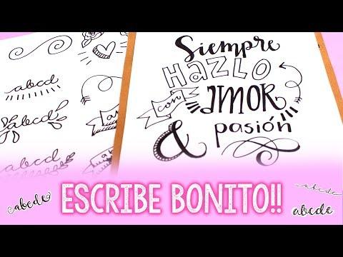 ¿Cómo hacer letras bonitas? ✄ Barbs Arenas Art!