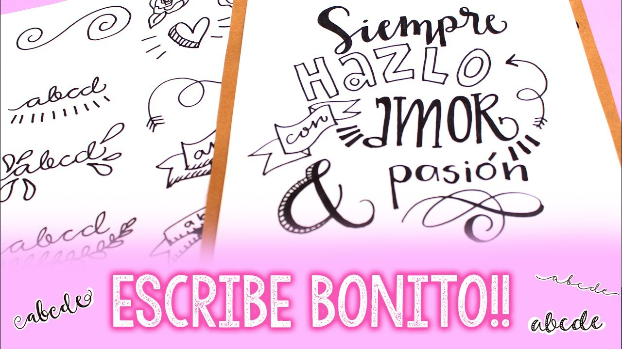 C mo hacer letras bonitas barbs arenas art youtube - Literas bonitas ...