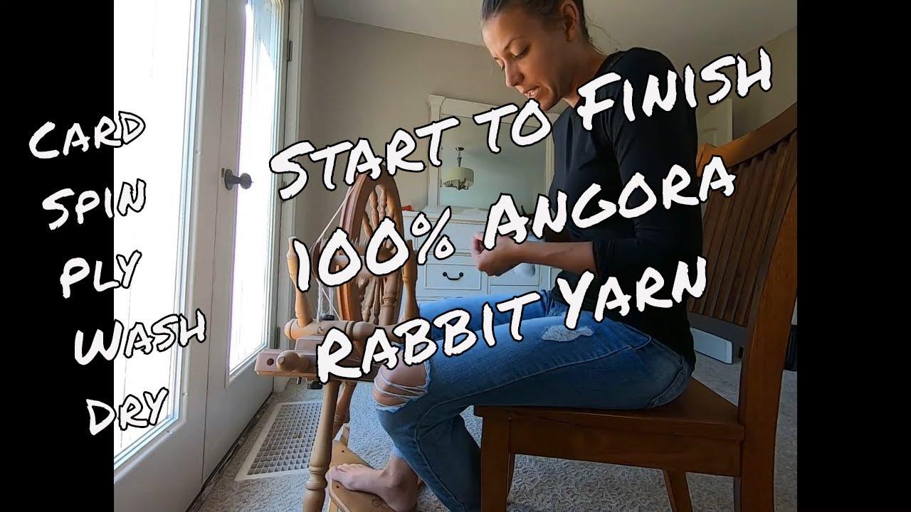 Start to finish how to spin angora rabbit yarn