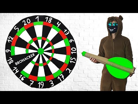 Make Huge Darts from Cardboard - How to Make Giant Darts Game DIY Project