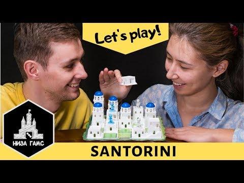 Играем в Santorini! Идеальная игра на двоих.