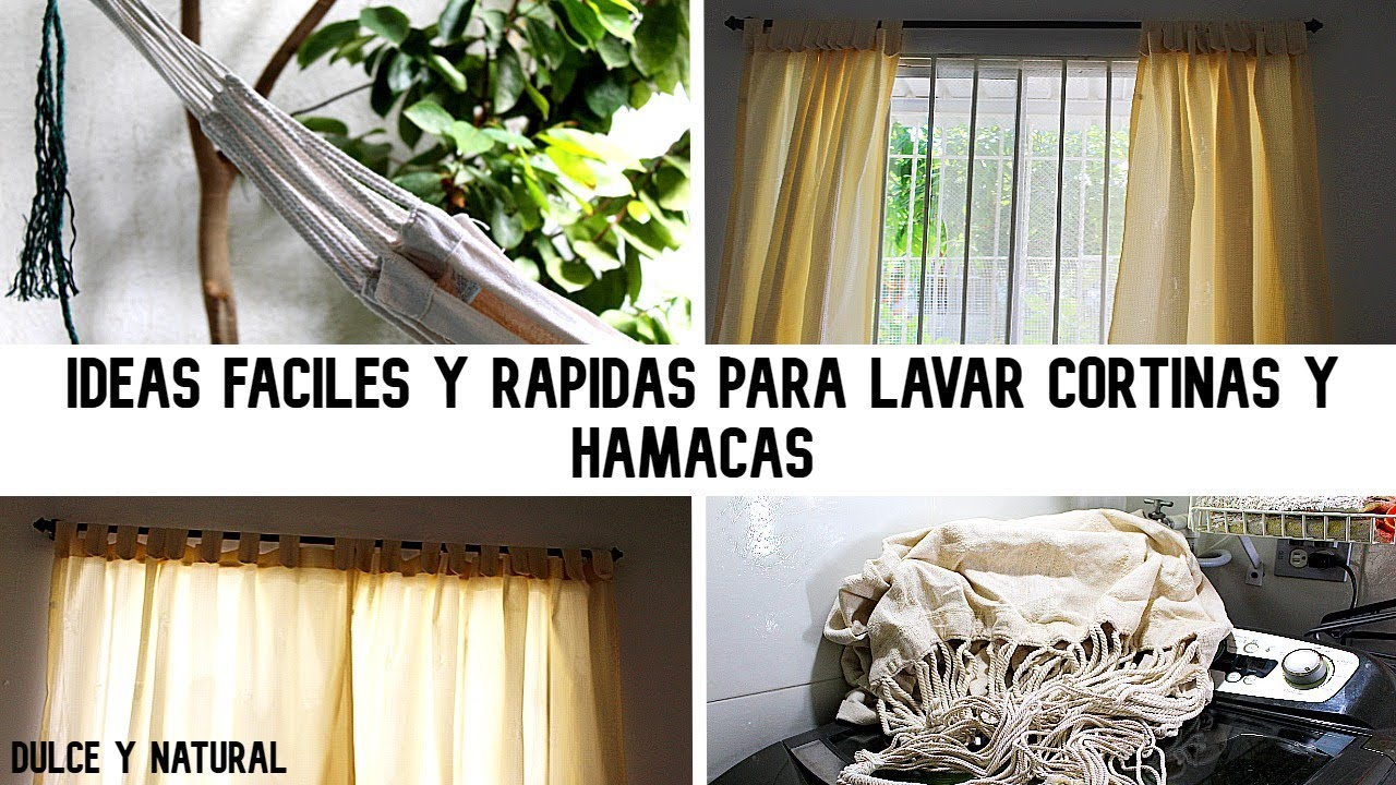 como lavar CORTINAS, HAMACAS super fácil y rápido / dulce y natural.