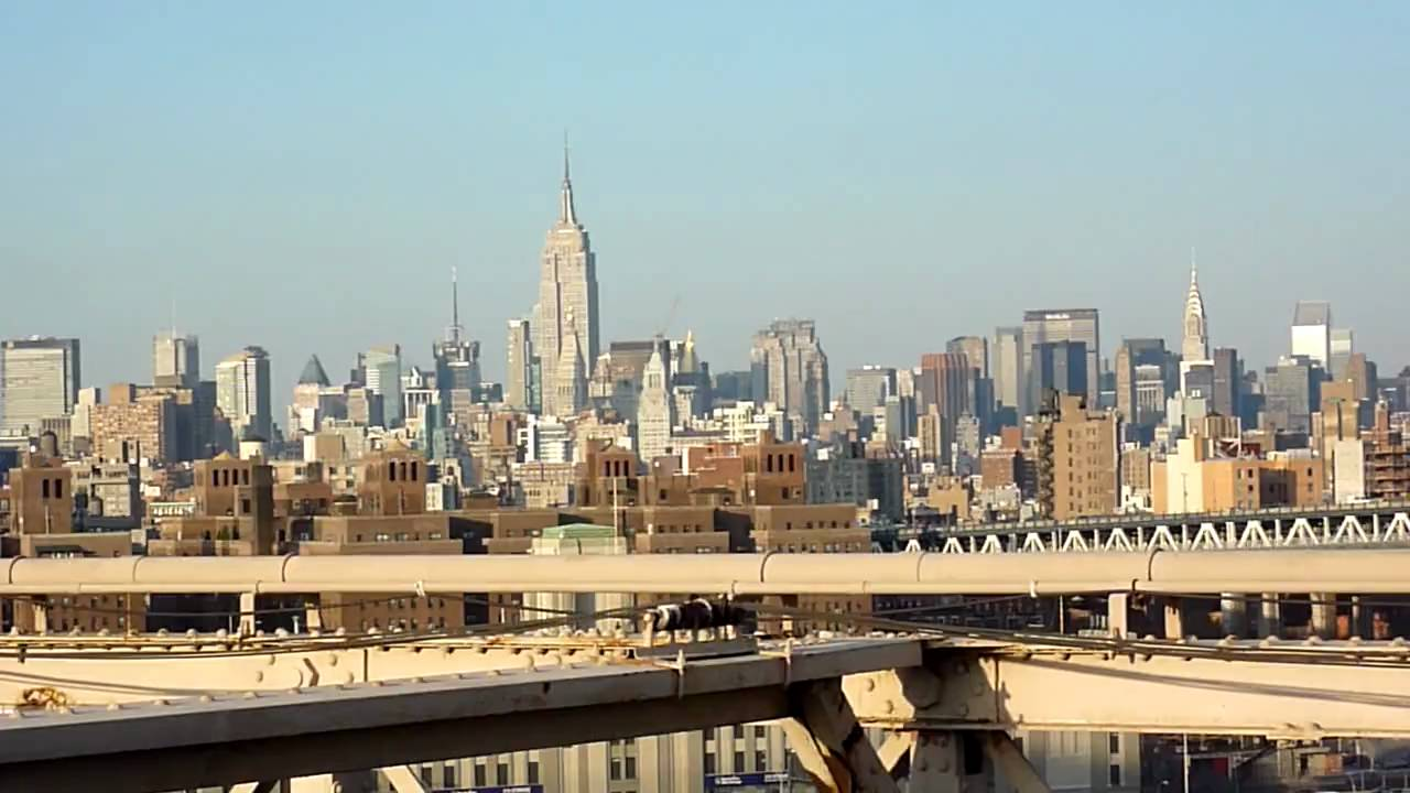 Views Of Manhattan From The Brooklyn Bridge New York City Hd