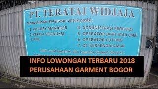 Info Lowongan Pabrik Garment Bogor 2018