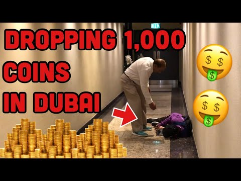 FALLING WITH 1,000 COINS! DUBAI! (SECURITY INVOLVED!)