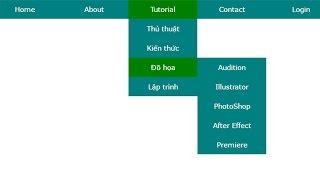 jQuery: Xây dựng menu đa cấp Dropdown bằng CSS và jQuery