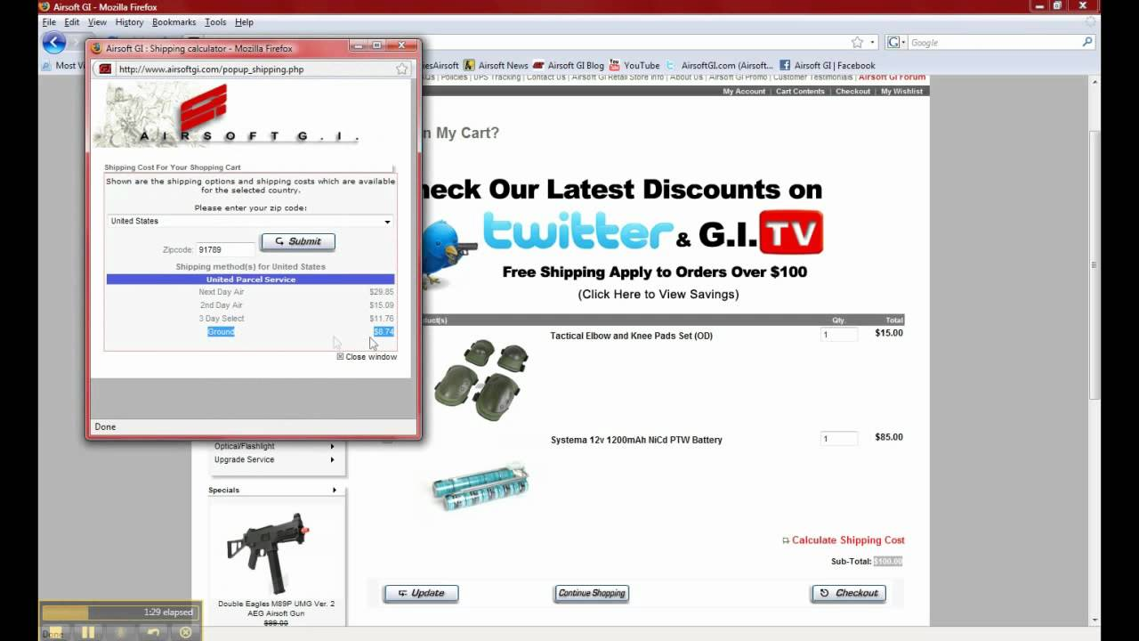 airsoft gi 101 how to calculate shipping cost before placing order youtube. Black Bedroom Furniture Sets. Home Design Ideas