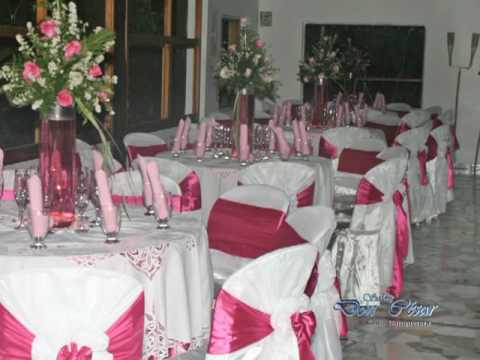 Bodas y eventos sal n don c sar youtube Arreglos para boda en salon