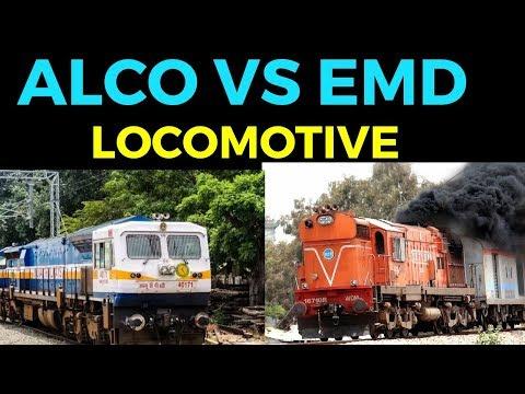 Alco vs Emd locomotive of indian railway