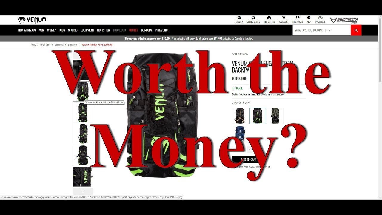 7cf1032835b4 The Gym Bag for Hoarders - Venum Challenger Xtreme Review - YouTube