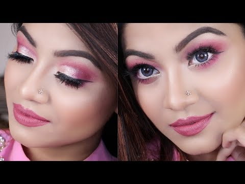 💖 Pink and Silver Party Makeup Tutorial 💖 Drugstore Glam NYE Makeup Tutorial 💖 New Year's Makeup