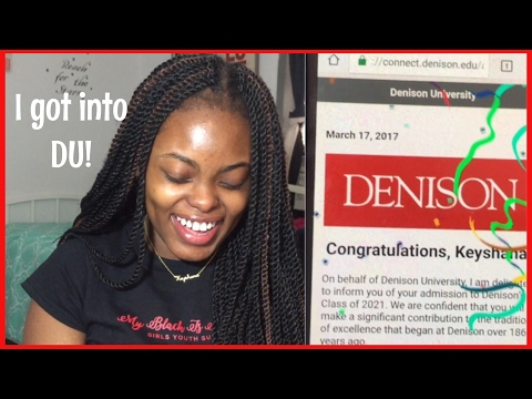 I got accepted to DENISON UNIVERSITY (Reaction Video)! ♡