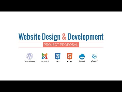 Web Design  Development Project Proposal Presentation Hd Movie