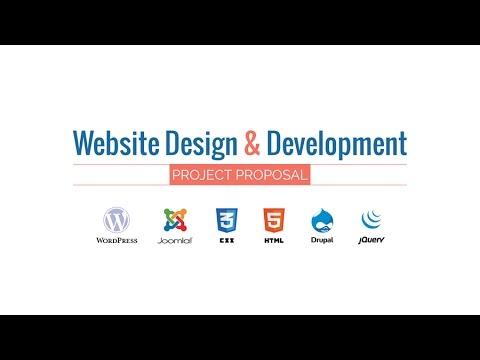 Web Design  Development Project Proposal Presentation HD Movie - design proposal