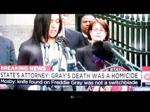 News Con,on Freddie Grays Death Homicide by M.J.M.5/1/15