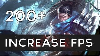 How To: Increase and Boost FPS In League of Legends! Part 1 [OVER 200FPS] [WORKING PATCH 6.13](In this tutorial, I will be teaching you how to get better FPS in League of Legends. I didn't come up with all of these ideas myself but combined all things I've seen ..., 2014-04-07T21:02:38.000Z)