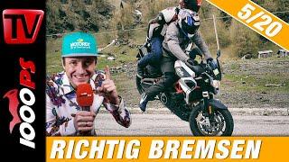 Die Richtige Bremstechnik Am Motorrad Auch Mit Abs Motorradfahren Lernen How To Motorrad 5 20 Youtube