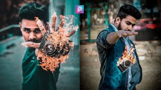PicsArt 3D Fire Camera Photo Editing Tutorial Step By Step In Hindi In Picsart 2019