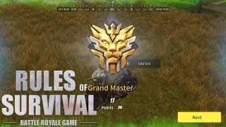 Rules of Survival - LAST BATTLE TO GRAND MASTER!