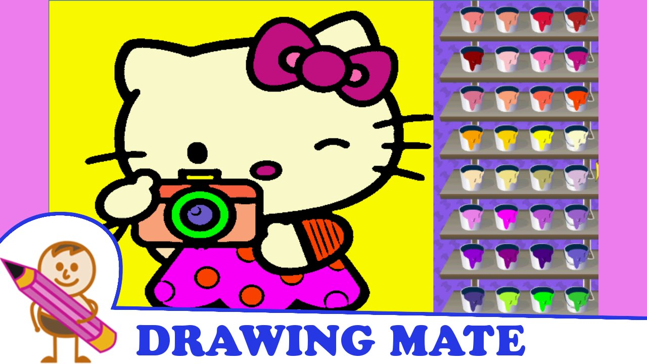 hello kitty coloring pages free colouring book kolorowanki gry