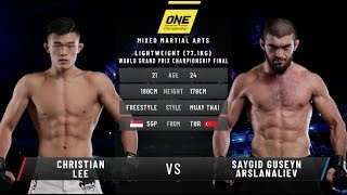 Christian Lee vs. Saygid Arslanaliev: ONE Century (FULL MATCH)